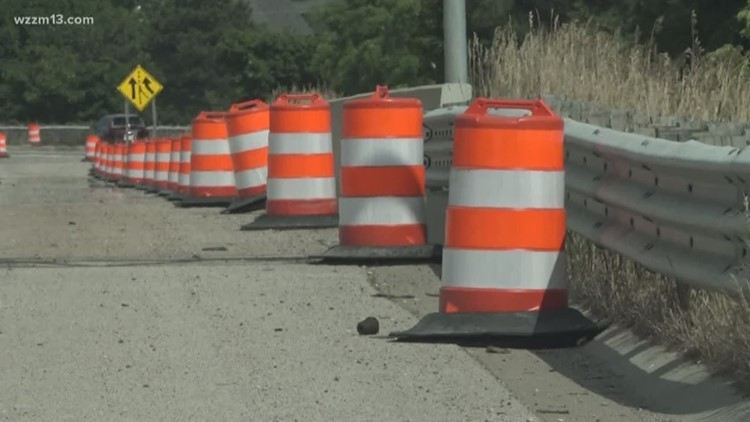 Road work begins on westbound I-196 in Holland Thursday