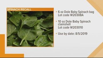 Dole recalls expired spinach