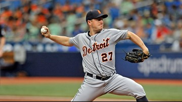 Tigers' Zimmermann out for up to a month with elbow injury