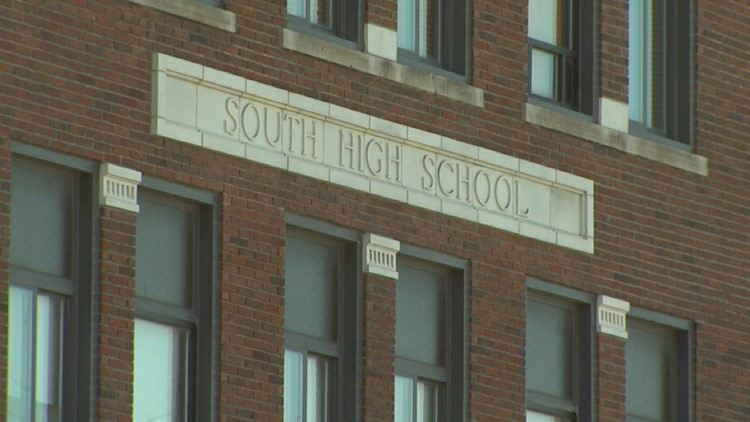 Grand Rapids South High School opened its doors in 1917 and closed as a high school in 1968. The building still stands today on Hall St. in Grand Rapids. It's now the 'Gerald R. Ford Job Corps Center.'