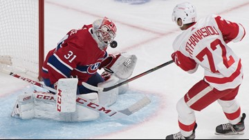 Red Wings end 9-game skid against Montreal with 4-2 win