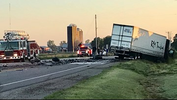 Head-on crash involving semi-truck kills one