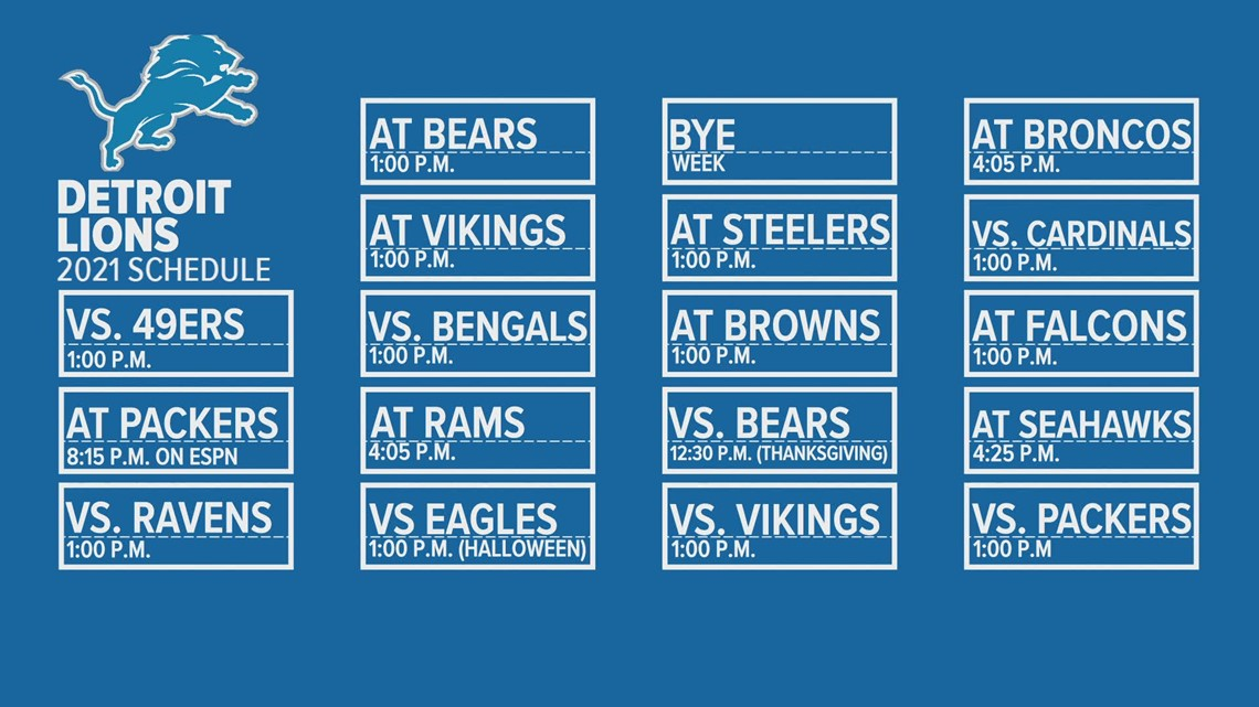 Detroit Lions release 2021 season schedule