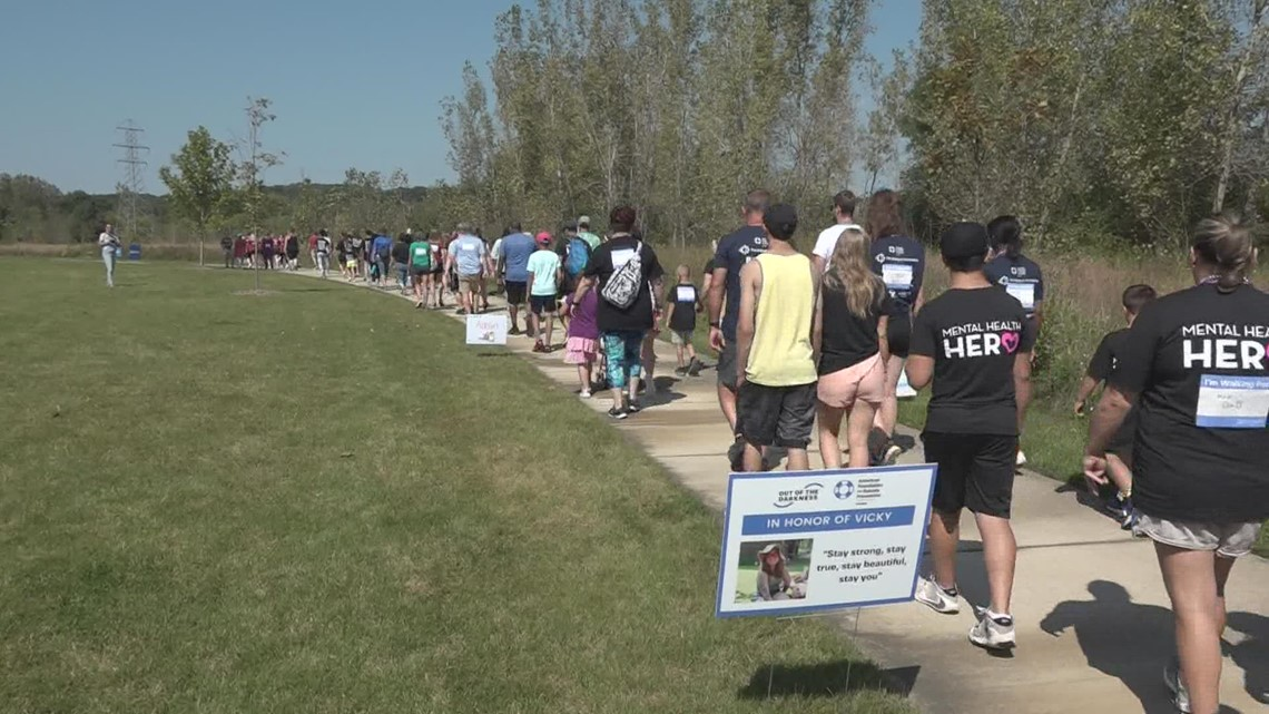 Hundreds walk in support of suicide prevention and mental health awareness