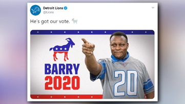 #Number20for2020 Barry Sanders responds to Garth Brooks jersey controversy