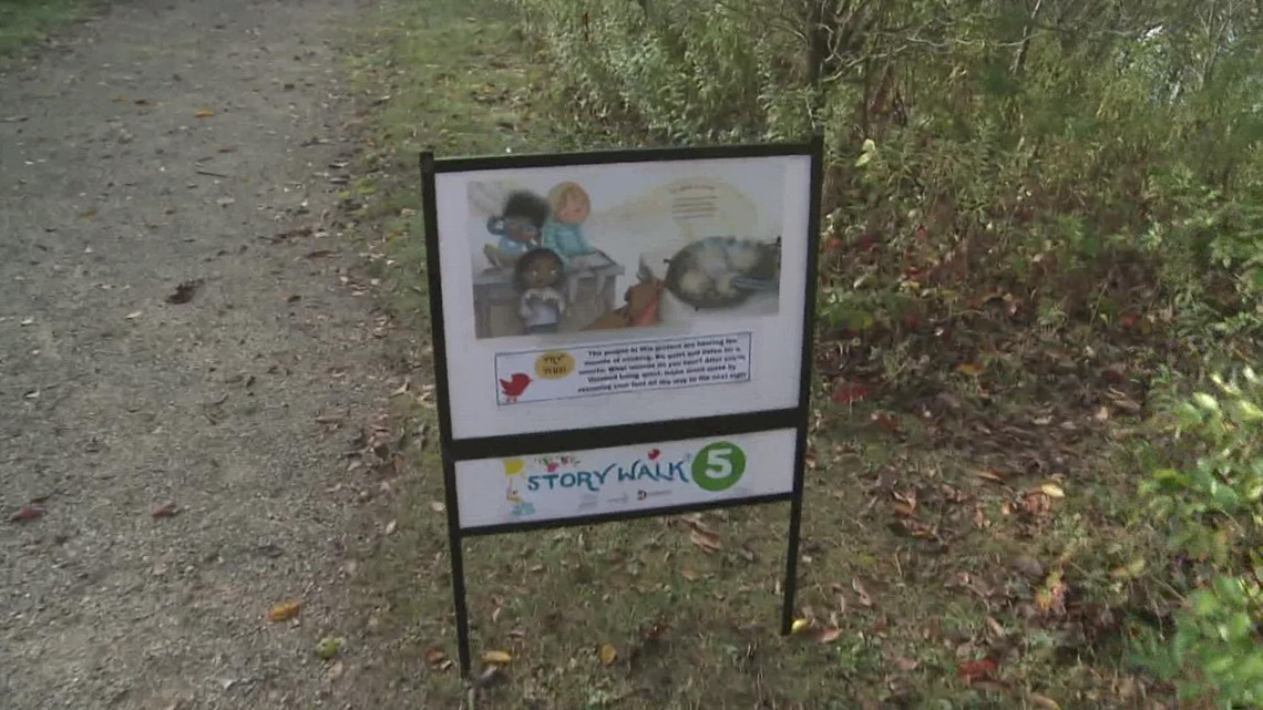 StoryWalk lets trail goers read while they take a stroll