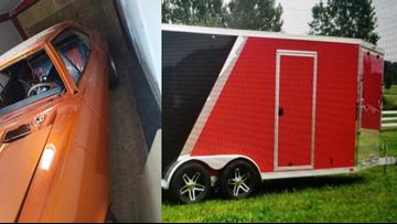 Police looking for stolen trailer storing 1967 Camaro