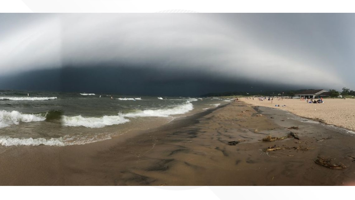 Storm Clouds Roll Across West Michigan