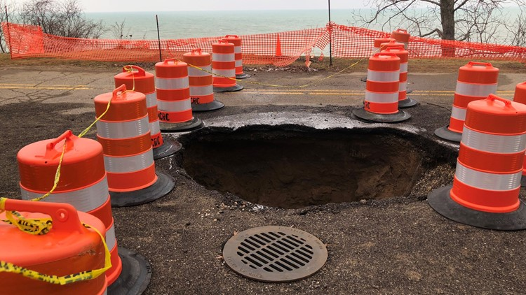 Sinkhole in Saugatuck Township