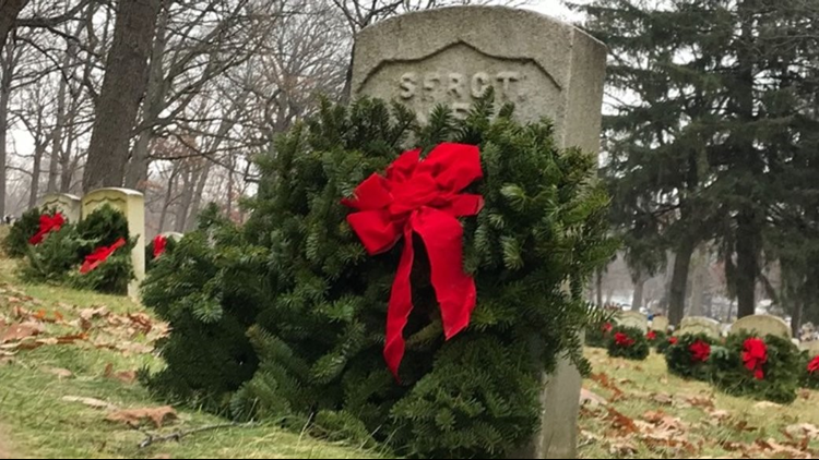 More than 2,400 wreaths will be placed at Grand Rapids veterans cemetery