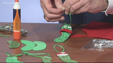 DIY Christmas pickle ornaments