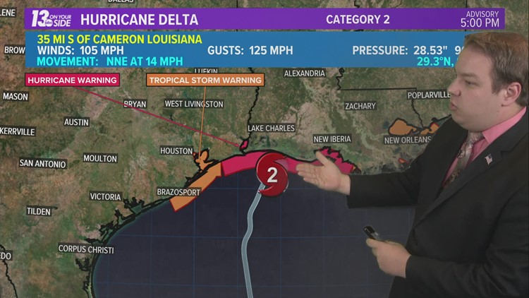 Hurricane Delta Landfall Expected In The Coming Hours