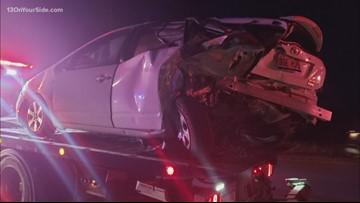 Toddler injured in I-96 crash