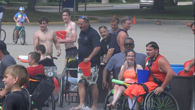 Allendale Fire Department helps wheelchair sports camp celebrate its completion