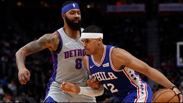 Harris, Simmons lead 76ers to 125-109 win over Pistons