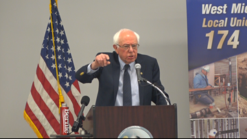 Bernie Sanders campaigns in West Michigan at trade union