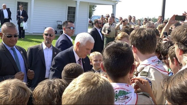 Mike Pence and scouts