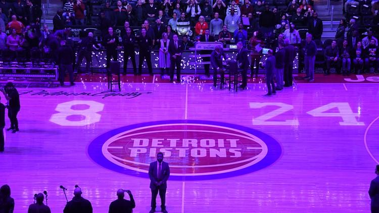 Detroit Pistons honor Kobe Bryant at home game