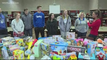 Sparta High School students gather toys for families in need