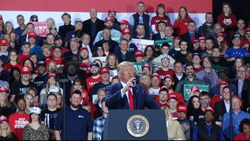 Trump impeached while speaking at Battle Creek rally