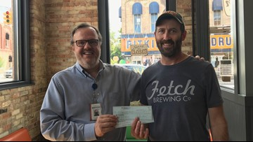 Fetch Brewing Company pays off student lunch debt for Montague and Whitehall Schools