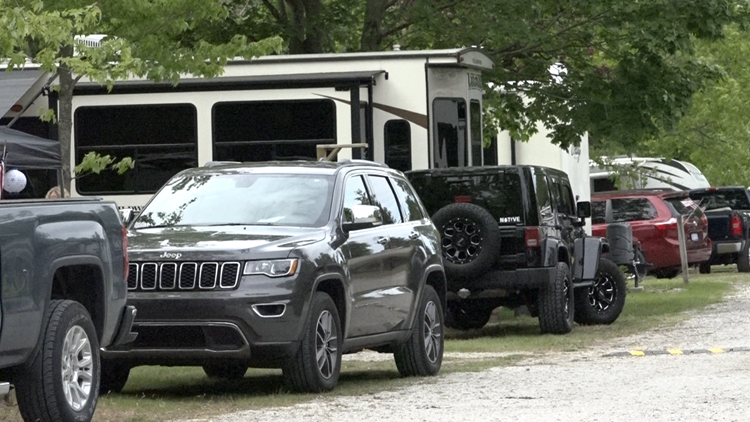 Cold start doesn't keep campers from enjoying holiday weekend