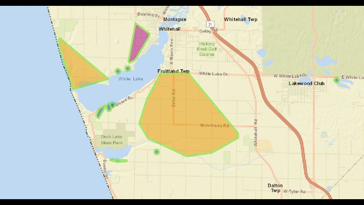 Consumers Energy Outage Map 4:00 p.m. Thursday Nov. 7
