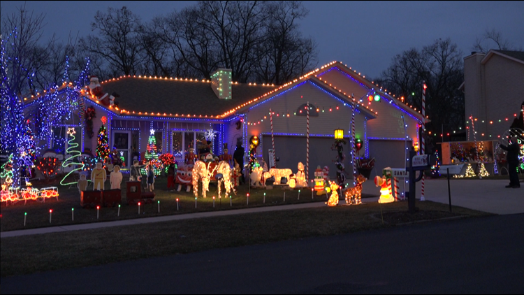 This Christmas display helped a Plainfield Twp. man recover after two strokes
