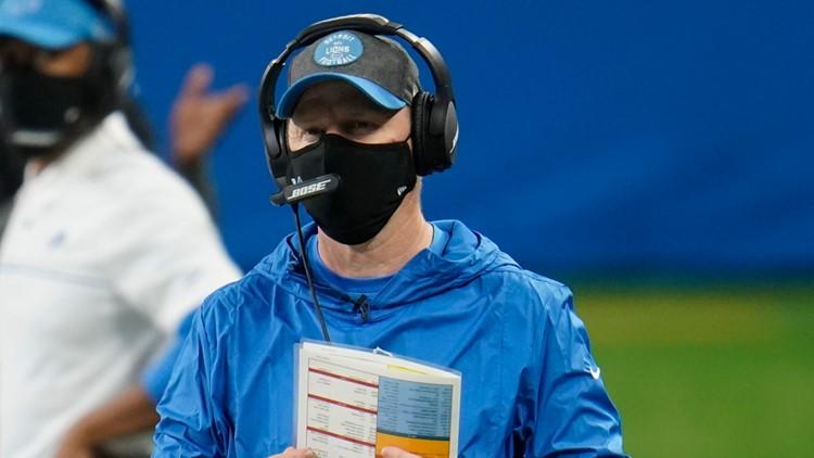 Lions' interim head coach will miss Saturday's game due to COVID-19 protocols