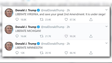 Trump tweets 'LIBERATE MICHIGAN,' echoing Lansing protesters ...