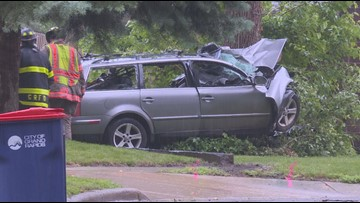 Man killed after crashing into tree on Grand Rapids' northeast side