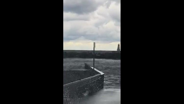 Water spout over Ludington