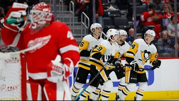 Malkin, Penguins top Red Wings 5-3 for 3rd straight win