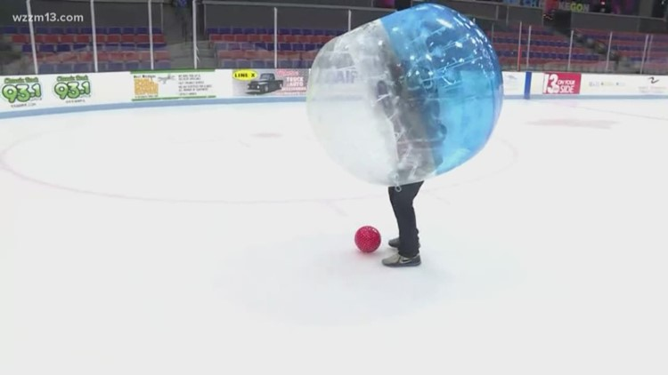 James Starks practices his bubble ball skills